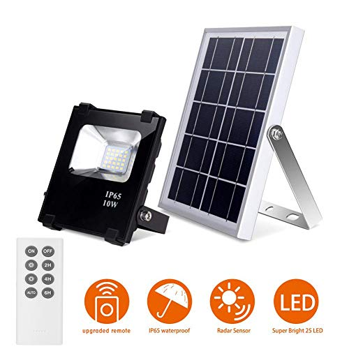 Solar Flood Lights Outdoor Remote Control...