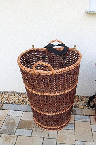 Kiepe mit Tragegurt aus Weide L, XL oder XXL Rückentragekorb Winzerkepe Weidenkiepe Huckelkorb Holzkorb Tragekorb in 3 Varianten/Größen (XXL)