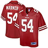 NFL PRO LINE Men's Fred Warner Scarlet San Francisco 49ers Team Replica Player Jersey