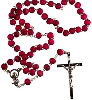 Rosewood rosary beads. Scented rosary beads. Rosary beads. Lady's rosary beads