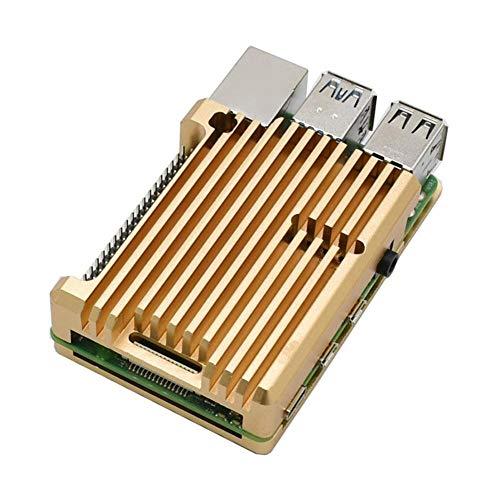 Knowledgi para Raspberry Pi 4 Modelo B armadura funda de aleación de aluminio/Raspberry Pi carcasa de refrigeración pasiva contenedor metálico Disipación del calor sólo para Pi 4B (Funda Senz