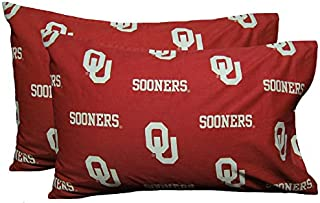 College Covers Oklahoma Sooners Pillowcase Pair - Solid (Includes 2 Standard Pillowcases)