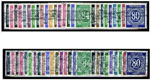 Goldhahn Alliierte Besetzung Ziffer-Aufdruck Nr. 52-68 I+II   I-IX I+II postfrisch  und geprüft Briefmarken für Sammler