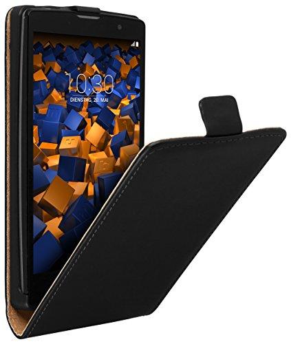 mumbi Tasche Flip Hülle kompatibel mit LG G4C / Magna Hülle Handytasche Hülle Wallet, schwarz
