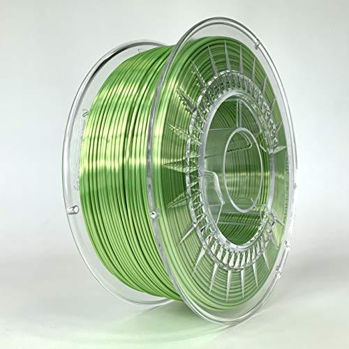 Devil Design SILK Bright Green, 1.75mm, 1kg of high gloss filament made in Europe