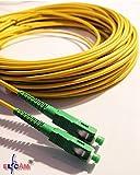 Fiber óptica cable SC / APC a SC / APC monomodo simplex 9/125, Compatible con Orange, Movistar, Vodafone y Jazztel