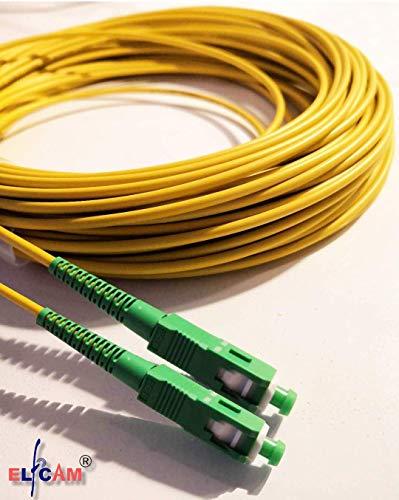 Glasfaserkabel SC/APC auf SC/APC Simplex Singlemode 9/125, Kompatibel mit Glasfaser bis in die Wohnung ( FTTH, Fiber to the Home) (30M)