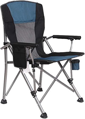 Chaises de camping Ultra-légère Pliable, Chaises De Pêche Robustes avec Porte-gobelets Et Poche Latérale, Capacité De 150 Kg (Couleur   Style2)