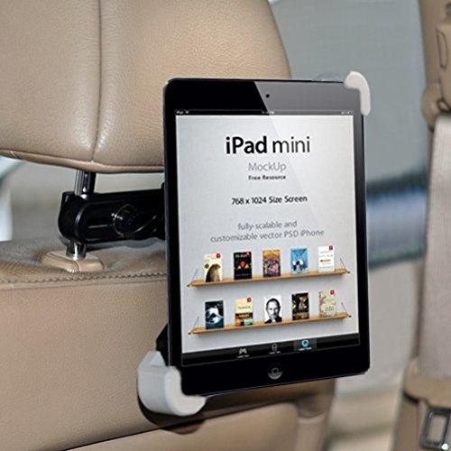 Premium Car Headrest Mount Tablet Holder Rotating Cradle Compatible with ViewSonic ViewPad E72 (7) E100 9.7 10s (10.1) 10pi (10.1) - Visual Land Prestige 7L 7 10, Connect 9 7