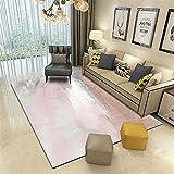 La Alfombra alfombras Salon Pelo Corto Rosa Gris Abstracto Tinta Pintura al óleo Estilo Sala de Estar decoración Alfombra Decoracion habitacion Adolescente recibidor Moderno alfombras 200*300cm
