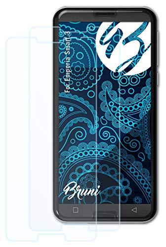 Bruni Schutzfolie kompatibel mit Emporia Smart.3 Folie, glasklare Bildschirmschutzfolie (2X)