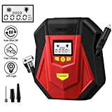 GREPRO Air Compressor Tire Inflator, DC 12V Portable Tire Pump with Digital LCD