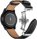 ANYE Compatibile per Cinturino Orologio Samsung SM-R800 Galaxy Watch 46mm,Cinturino Huawei Watch GT 2 46 Cinturino Pelle Galaxy Watch 3 45mm Cinturino di Ricambio Cinturino Bracciale Samsung Gear S3