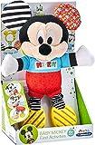 Clementoni-17165 - Baby Mickey Peluche Texturas - peluche Disney para bebés a partir de 6 meses