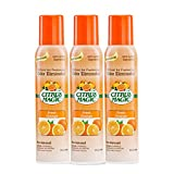 Destroy foul odors on contact with a natural citrus spray Created from 100% active ingredients made from pure and natural citrus oils Lasts up to 4X longer than conventional aerosol sprays Fresh Orange scent Convenient 3 Count, 3.0-Ounces Each