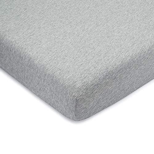 Comfy Cubs Fitted Crib Sheet – 100% Cotton Baby Crib Mattress Sheet for Boys and Girls – Fully Elasticized Hem for Snug Fit Over Standard Crib and Toddler Mattresses (Pack of 2) (Gray, Pack of 1)