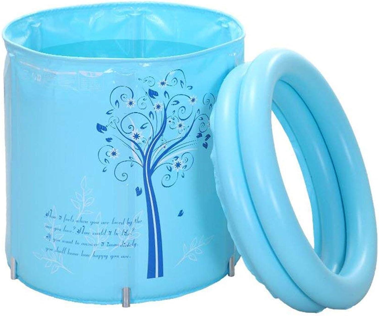 EUNADINAWENHUA Inflatable bathtub Folding tub adult bathtub baby tub PVC material available in all seasons Air Baths for Living Room (color   bluee)