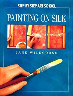 watercolor painting on silk