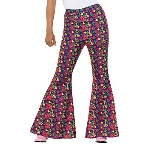 Pantalones acampanados para dama   En talla M (ES 40/42)   Increíbles pantalones con bota campana para mujer Flower power   El centro de atención en fiestas de los años 70 y movimientos retro