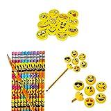 Emoji School Supplies Set - 36 Piece Emoji Party Favor & Giveaway Gift
