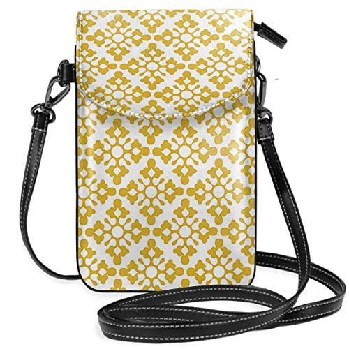 Gotas Amarelo 1000 - Bolso pequeño para teléfono celular, con correa extraíble