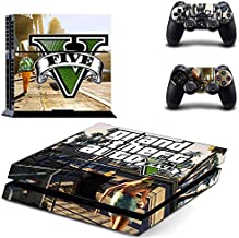 Playstation 4 Skin Set - GTA V HD Printing Vinyl Skin Cover Protective for PS4 Console and 2 PS4 Controller by Mr Wonderful Skin