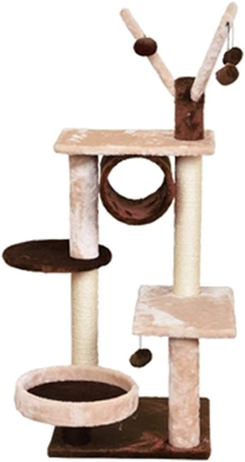 WSWJJXB Cat Climbing Frame Flannel Cat Toy Luxury Cat Litter Cat Jumping Platform Multifunzionale