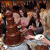 Uniquel 4 Ebenen Schokobrunnen, Süße Kaskaden aus der Schoko Fontaine Rostfreier Stahl Schokofontäne für Familien Geburtstagsfeier Feiertags Abendessen Kapazität 1800g - 4