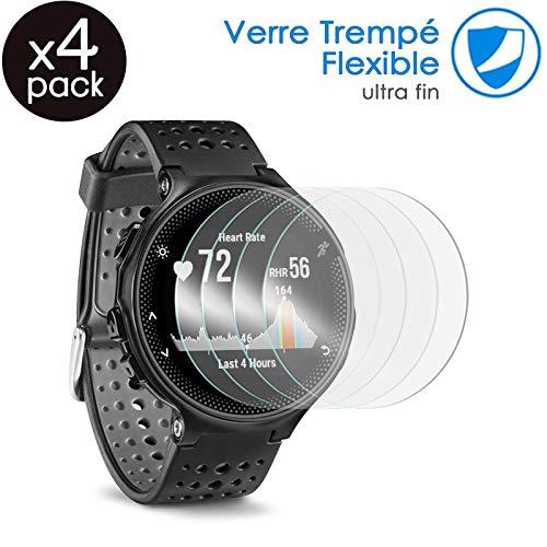 KARYLAX [Pack x4] Protector de pantalla para reloj inteligente película de vidrio Nano Flexible irrompible Dureza 9H, Ultra Fin 0,2 mm y 100% Transparente para ceblaze Thor 5