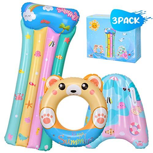balnore Schwimmring, 3 Stück Schwimmreifen Kinder Luftmatratze mit Meerestiere Schwimmhilfe für Kinder Wasserspielzeug für Pool Strand