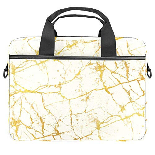 Yellow Marbled Road Laptop Computer and Tablet Shoulder Bag