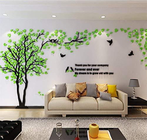 Albero Adesivo da Parete, Alberi e Uccelli 3D Adesivi Murali Arts Wall Sticker Decorativi per TV...