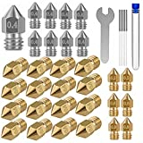 36PCS 3D Printer Nozzles Cleaning Kit,MK8 3D Printer Extruder Nozzles Compatible with Creality Ender 3 Ender 3 pro Ender 5 Ender 5 pro CR-10 and so on Band Cleaning Needles,3D Printer Nozzle Wrench…