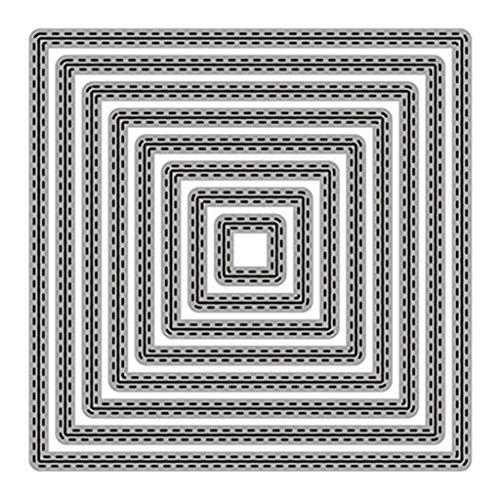 KunmniZ Geométrico Metal Temple Temple Plantilla Scrapbooking DIY Album Stamp Paper Embus DIY Crafts Decoración para el hogar Regalo Ideal