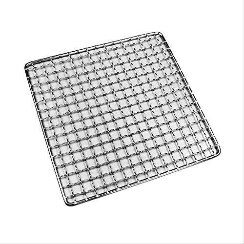 ZGQA-GQA La parrilla de barbacoa cesta, de dos piezas 304 rectangular de acero inoxidable Parrilla Parrilla fuentes herramientas Accesorios