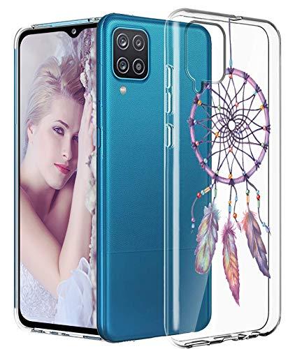 Croazhi - Carcasa para Samsung Galaxy A12 (silicona), transparente