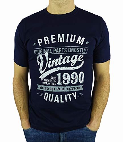 My Generation Gifts 1989 Vintage Year - Aged to Perfection - 30 Cumpleaños Años - Regalo de Cumpleaños Camiseta para Hombre - Azul Marino L