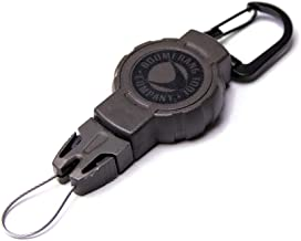 Boomerang Tool Company Hunting Retractable Gear Tether with a Retractable Kevlar Cord and Carabiner, Hook & Loop Strap or Belt Clip and Universal Wire End Fitting - Made in The USA