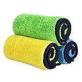 Chiffons de nettoyage en microfibre 840gsm, chiffon de nettoyage et d'entretien auto-épai...