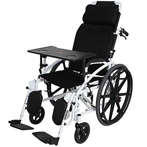 YEESEU. Rollstühle Rollstuhl-Multi-Funktions-Voll Liegender Transport Folding tragbare Reise Stuhl Tragen Ältere Behinderte Hand Push-Gürtel Potty