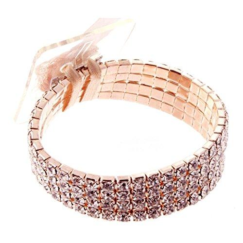 Corsage Bracelet- Rock Candy (Rose Gold)