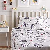 Amazon Basics by Disney Minnie Mouse Purple Love Bed Sheet Set, Full