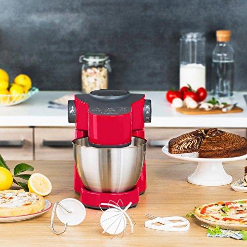 Moulinex QA3015B1 - Robot de cocina (4 L, Negro, Rojo, Plata, 1 L ...