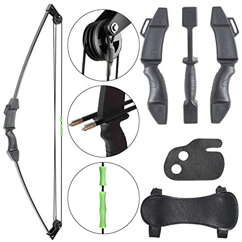 Archery Kids Bow Compound Youth Gift Bow Sports Hunting Outdoor Practice Target Kids Bow Right and Left Hand Bow for Age 6 to12