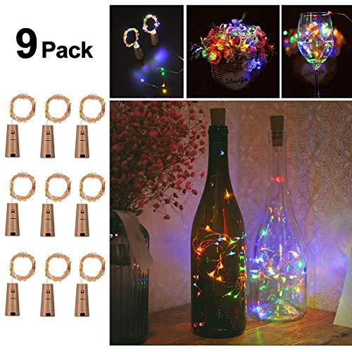 Opard Flaschenlicht LED Flaschen-Licht Lichterkette flaschenlichterkette korken LED Nacht Licht Weinflasche Hochzeit Party romantische Deko (Multi-colored)