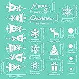 AmzKoi 160 Fensterbilder Selbstklebend, 6 Blätter Schneeflocken Fenstersticker Winter Deko Weihnachtsdeko, Fensterbilder Schneeflocken Wiederverwendbar - 3