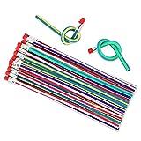Locisne 35 Pack weiche flexible Bendy Bleistifte, magische Bend Bleistifte für Kinder Schule Spaß, Klassenzimmer, Preise, Party Geschenke