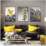 xwlljkcz 3 Stück Schwarz Weiß Landschaft Poster und Druck