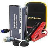 ENERGEN Car Jump Starter AL6 600A Peak 12V for up to 5.0L Gas and 2.5L Diesel Engine Battery Booster with USB Smart Charging Port LED Flashlight UL Certified