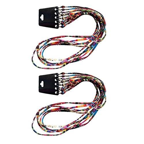 F Fityle Cordón Plano para Gafas de Sol Lentes Hecho de Algodón 70 cm Largo (10 Unidades) - Multicolor, una talla